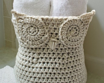 Crochet Pattern-- The Original Owl Basket --Crochet Pattern