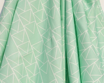 Organic Swaddle Blanket Mint Triangle Stack - Swaddle Blanket - Organic Knit - Baby Blanket - Newborn Blanket - Mint Swaddle - Mint Bedding
