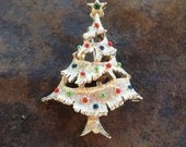 Vintage Christmas Tree Brooch Gerrys