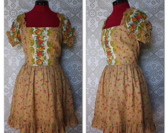 Vintage 1960's 70's California Charmer Mini Dress