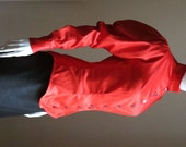 RESERVED: Red Cotton Satin Long Sleeved Shirt