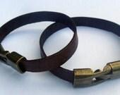 Mens boho primitive style leather wrist band bracelet cuff