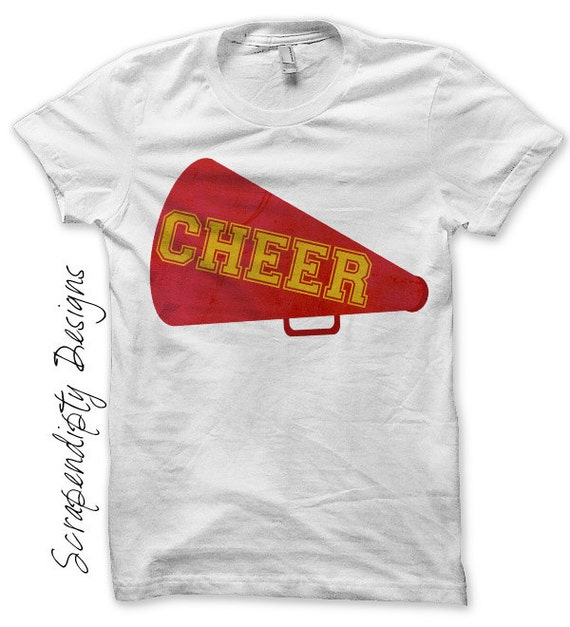 Cheer Megaphone Iron on Transfer - Iron on Cheerleading Shirt PDF / Girls Cheerleading Outfit / Girls Sports Clothes / Cheer Gifts IT221-P