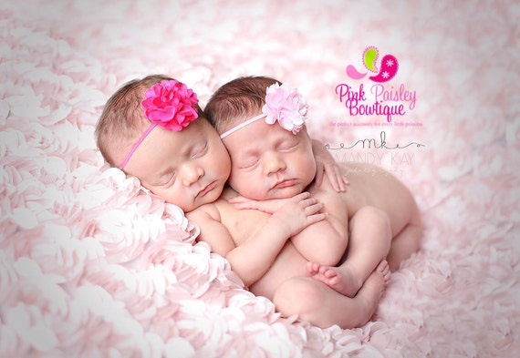 Baby Headbands . You Pick 3 Mini Satin Tulle Puffs- Baby Shower Gift - Baby Girl Headbands - Infant Headbands- Baby Hair Accessories