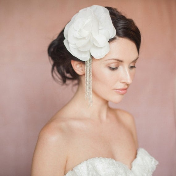 Amelie Bridal Wedding Ivory Silk Flower