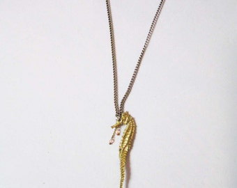 Large Sea Horse Necklace Sea King ( FREE domestic shipping)