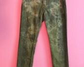 Tie dye faded green GRUNGE jeans pants