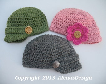 Free Baby Crochet Hat Patterns With Brim : BABY VISOR BEANIE PATTERN Free Baby Patterns