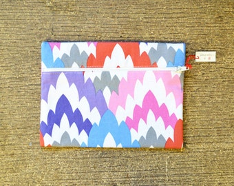 Multicolored Zipper Bag
