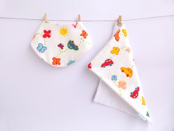 Bib and Burp Cloth by Owls and Co.