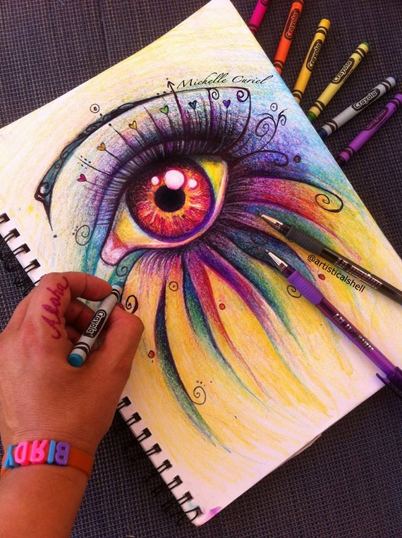 Eye have passion - Original ART 8x10 on 11x14 mat