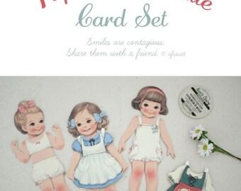paper doll mate card set