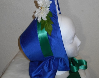 Blue Civil War Spoon Bonnet - Ready to Ship