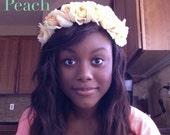 Flower Crown Headband Flower Headband Peach
