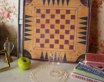 Vintage Gameboard/Sign for Dollhouse