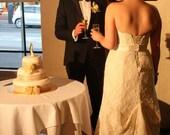 Simply elegant wedding cake topper