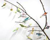 Fabric bird ornament grab bag