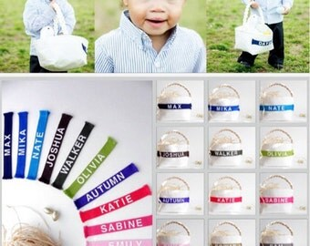 Personalized Easter Basket - Small or Large - Boy or Girl - Monogram Name - Easter Egg Hunt, Spring Home Decor, Decoration - Pick Your Color