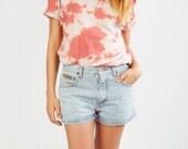 Pink printed tye and die tee-shirt