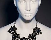 Cover Drop- Vintage Style Necklace Black plated made with Hematite Swarovsky Crystals