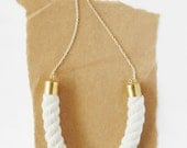 Chain and Rope Necklace - Natural Piping Cord