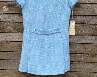 1960's Powder Blue Mini Dress