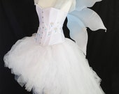 White tulle fairy skirt  - ready to ship
