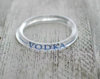 Grey Goose Vodka Bracelet | Upcycled Grey Goose Bottle Jewelry