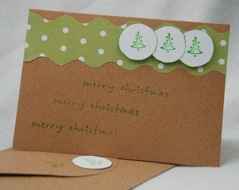 Another Merry Christmas Card Handmade Hand Cut