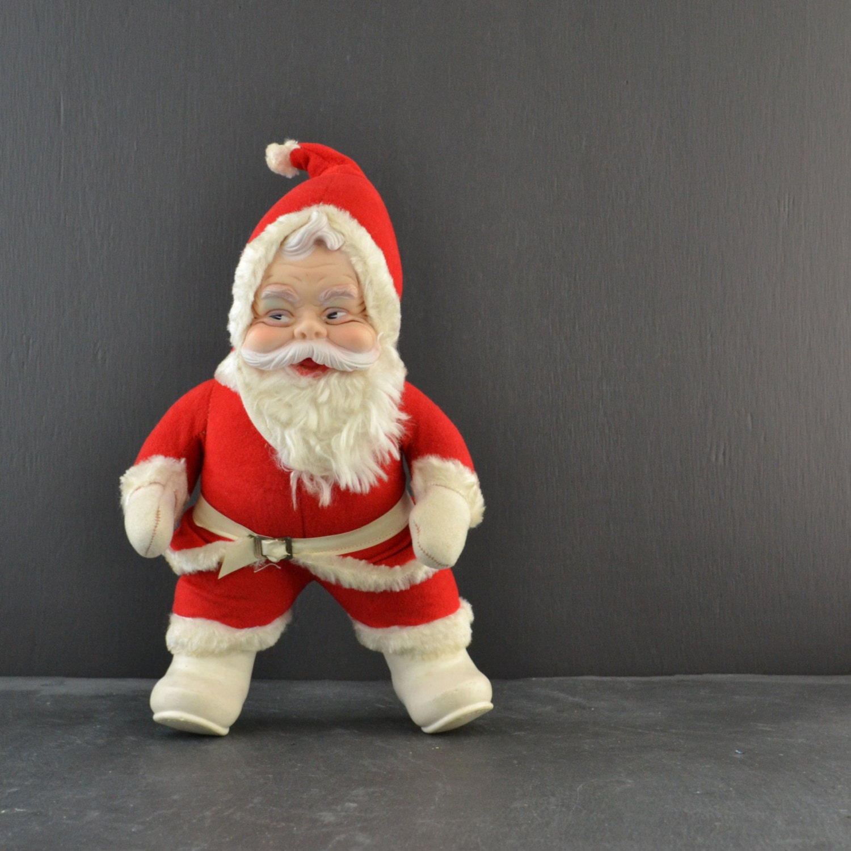 Santa Claus Toys : Vintage rushton santa claus doll plush toy inch