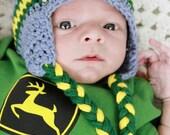 Deere Infant Hat Crochet Pattern : gammyshouse on Etsy