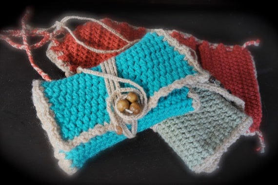 Knit Pattern Tarot Bag : Crocheted Tarot Case Crochet Tarot Bag Knit by AngelasSolitude