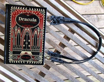 Dracula and Other Horror Classics - Leather Book Purse - Made to Order