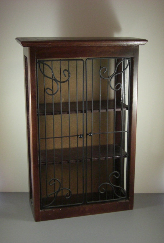 tabletop hanging wall display cabinet wrought by