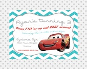Custom Birthday Party Invite/ Cars Invitation/ Race Car Boy