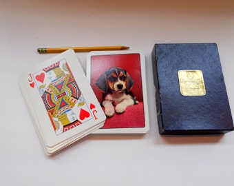 Vintage Oversized Playing Cards Beagle Large Oversize Card Deck King Size  Cards Kingsbridge Imperial Made in Italy