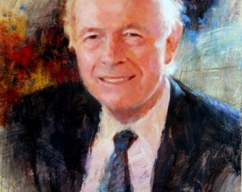 Custom oil portrait painting personalized original art oil painting gift for men dad father grandfather grandpa grandparent grandma 12x16
