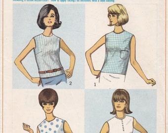 1960s Simple Blouse Pattern Simplicity 6316 Size 18 Uncut