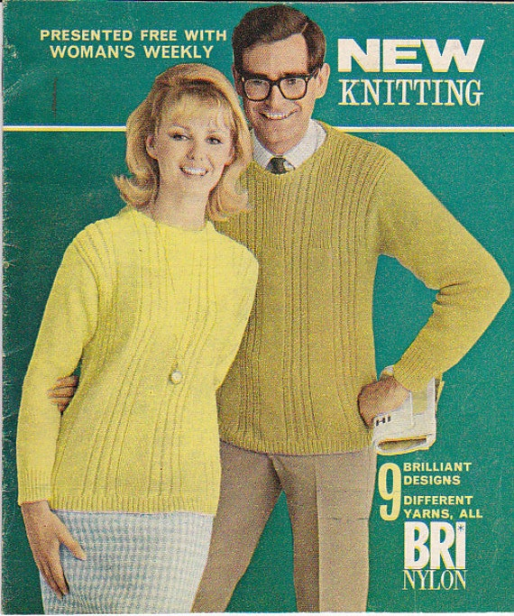 Free Easy Knitted Scarf Patterns : Items similar to Womens Weekly New Knitting Book - 1960s Mag insert - Womens ...