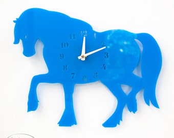 "The ""Turquoise Mare"" designer wall mounted clock from LeLuni"