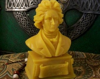 Beethoven Bust Beeswax Candle Composer Series