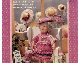 Grandma Goes Shopping Knit Pattern Fibre Craft  FCM364