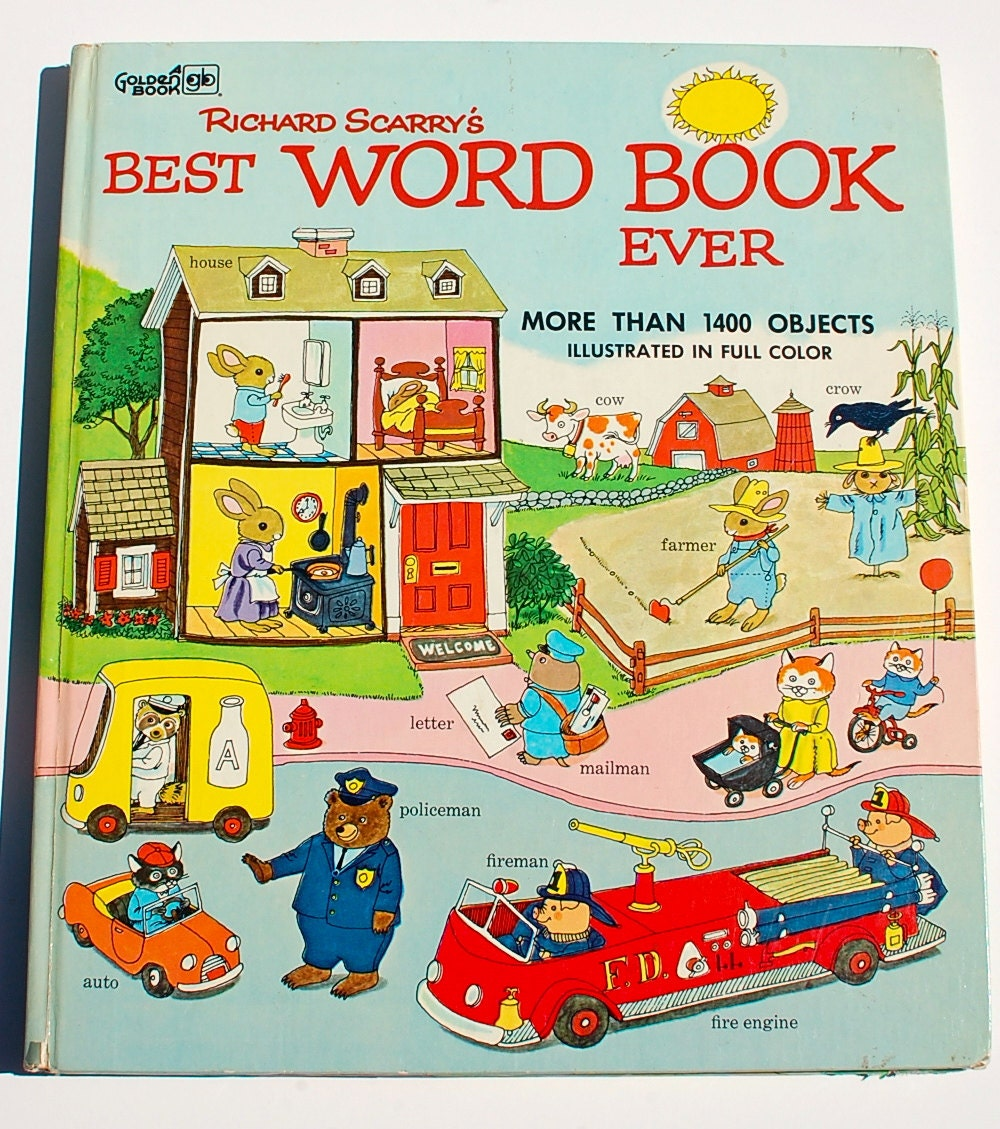 Richard Scarrys Best Word Book Ever 1978 Golden Book RARE