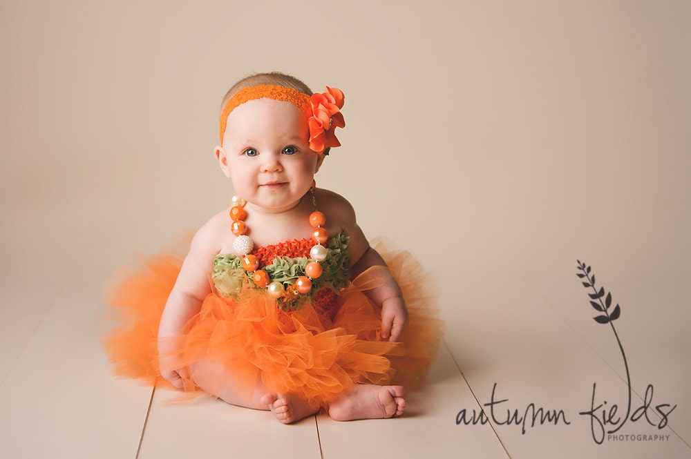 Cute Girl Pumpkin Costumes Tutu Cute Pumpkin Girl