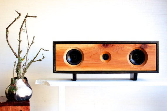 Reclaimed Wood Bluetooth Speakers - the Elder Box - Handmade using Recaimed Redwood - FREE SHIPPING