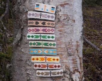 Large Native American Beaded Barette