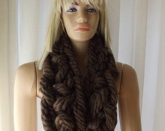 FINGER Crochet Scarf / WOOL / Crochet Scarf / Crochet Scarflette / Wool Scarf / Wool Scarflette / Soft Scarf /  Cozy Scarf / 50% OFF !!!