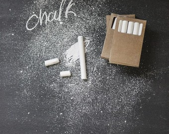 50% off Sale --  White Chalk -- Non Toxic -- Dust Free -- Perfect for Zinc and Chalkboards -- Set of 5