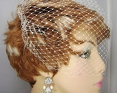 Birdcage Veil, Crystal Accent Veil, Bandeau Veil, Wedding Veil, Bridal Veils, REX1003C