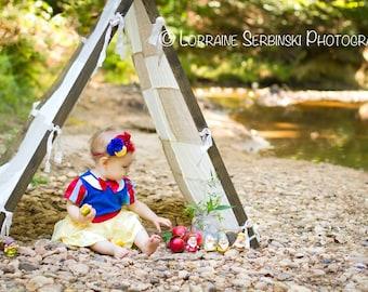 Snow White Inspired headband,  red headbands, royal blue headbands, headbands, newborn headbands, photography prop